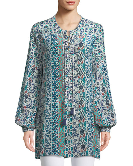 Elizabeth Graphic-Print Long Tunic