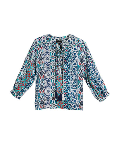 Elizabeth Graphic-Print Long Tunic and Matching Items