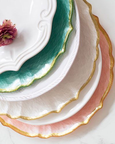 Pastel Glass Service Plate/Charger Pistachio and Matching Items & Vietri Dinnerware at Neiman Marcus