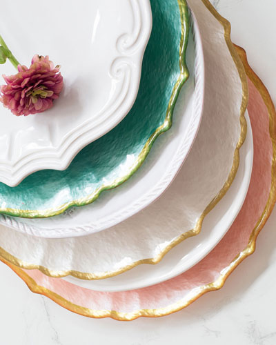 Pastel Glass Salad Plate, Pistachio  and Matching Items