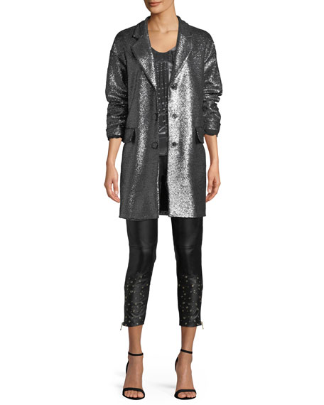 Metallic Bouclé Long Jacket