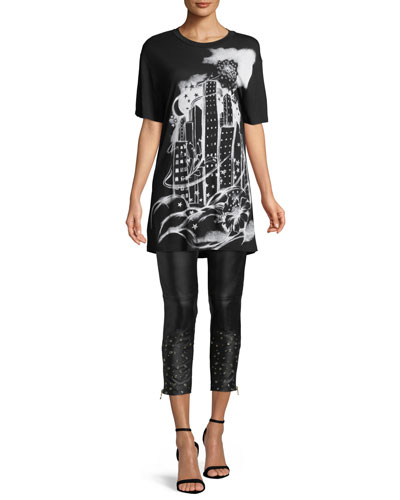 Graphic-Print Long Tee and Matching Items