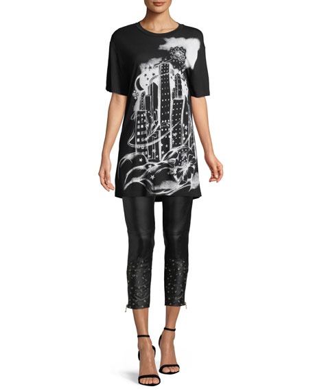 Graphic-Print Long Tee