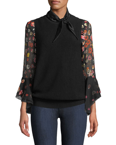 Skyla Satin-Trim Wool Sweater and Matching Items