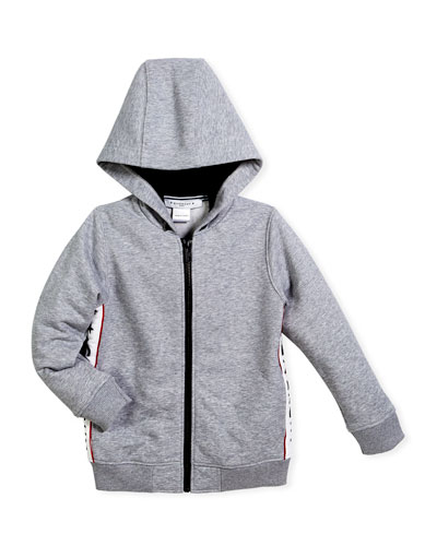 Hooded Jacket w/ Logo Sides, Size 4-5 and Matching Items