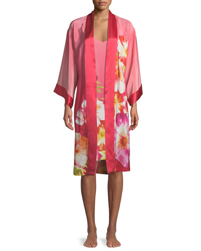Paradis Floral Silk Nightgown and Matching Items