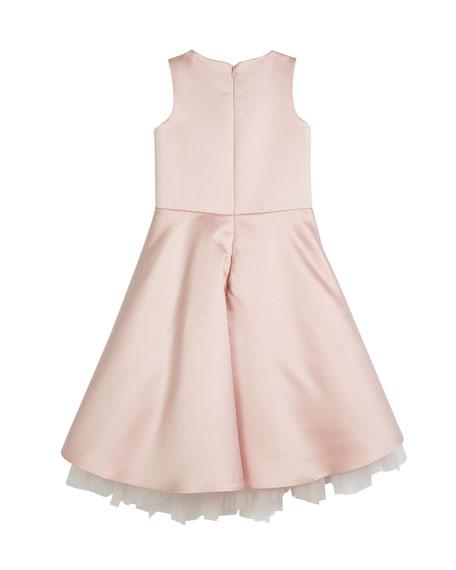 Asymmetrical Flower Beaded Dress, Size 8-12