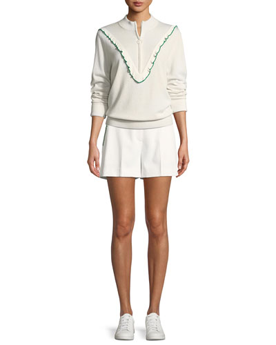 Half-Zip Cashmere/Coolmax Performance Sweater and Matching Items