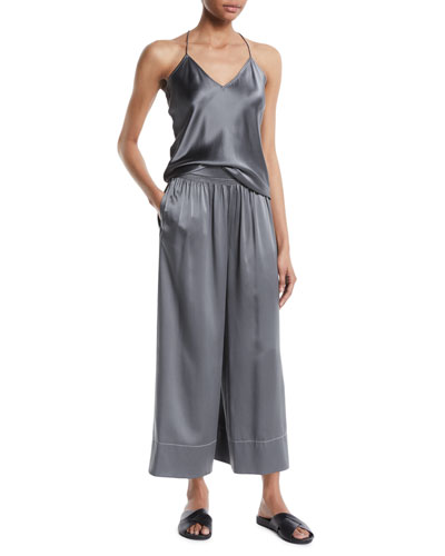 Draped Back Silk Camisole Top and Matching Items