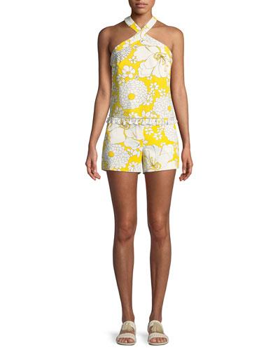 Always Sunny Cedar Halter Top w/ Tassel Hem and Matching Items