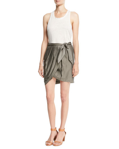 Erlecia Self-Tie Wrap Mini Skirt and Matching Items