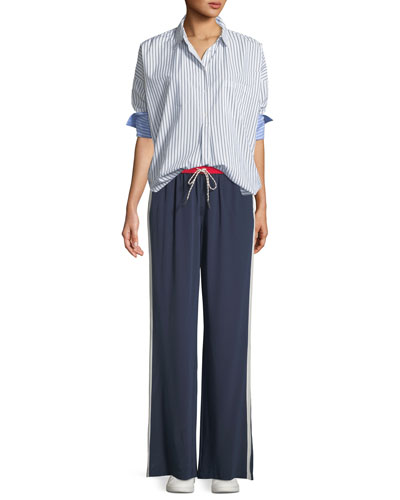 Selinde Striped Button-Front Top and Matching Items