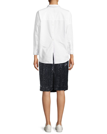 Septima Long-Sleeve Button-Down Top