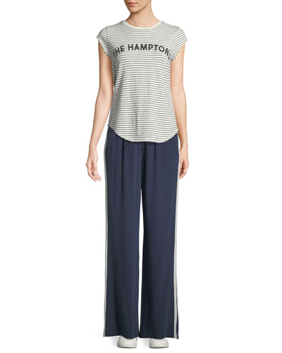 Perlyn Side-Stripe Silk Track Pants and Matching Items