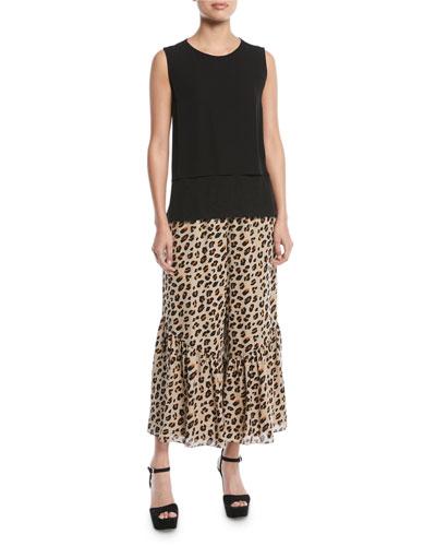 Kara Layered Sleeveless Blouse and Matching Items