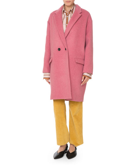 Filipo Double-Breasted Wool-Cashmere Coat