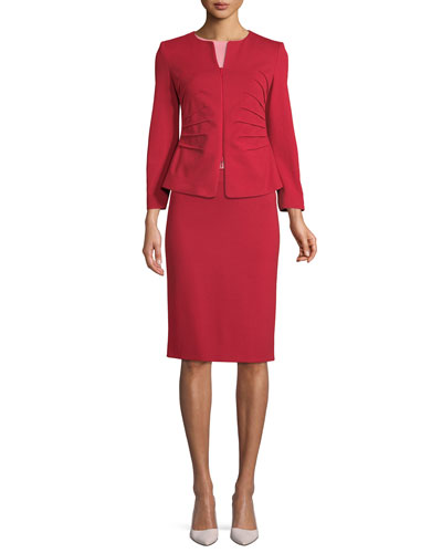 Milano Jersey Knee-Length Pencil Skirt, Red and Matching Items