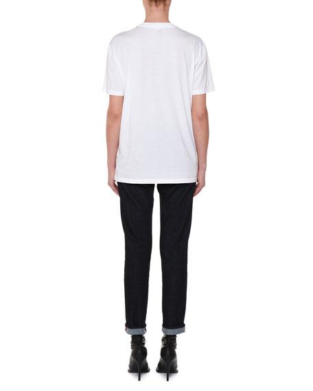 4-Square Stuffed Animal Crewneck Cotton T-Shirt