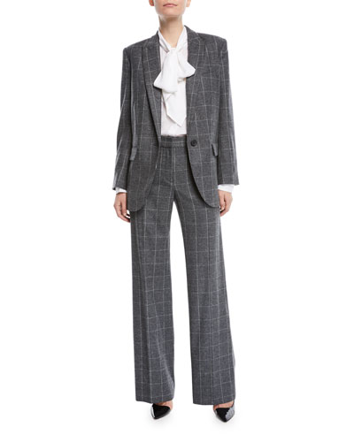 James Scholastic Plaid Wool Blazer and Matching Items