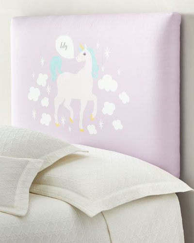 Unicorn Twin Headboard, Personalized  and Matching Items