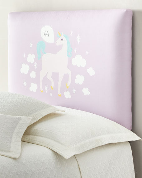 Unicorn Twin Headboard, Personalized