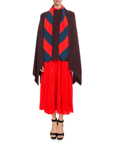 Oversized Cashmere Cape-Sleeve Sweater w/ Small 4G Logo and Matching Items