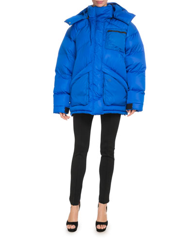 Oversized Hooded Quilted Puffer Jacket and Matching Items