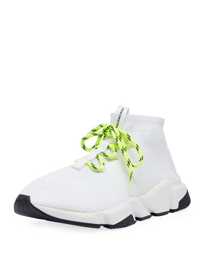 Stretch-Knit High-Top Trainer and Matching Items