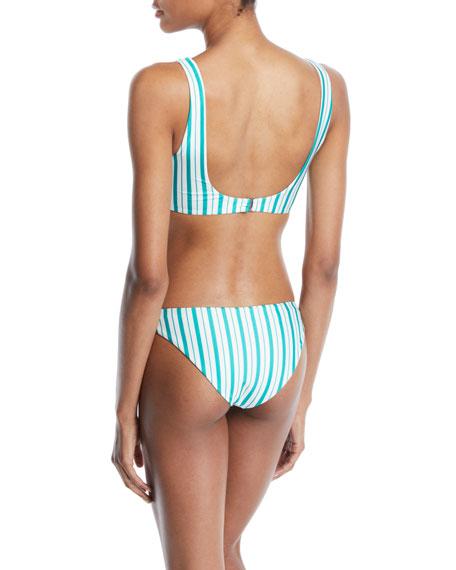 Pride Scoop-Neck Striped Bikini Swim Top