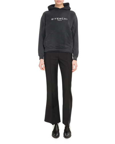 Givenchy Paris Destroyed Hooded Sweatshirt and Matching Items
