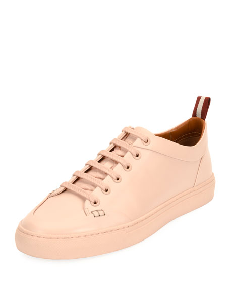 Helliot Dip-Dyed Leather Low-Top Sneaker, Blush