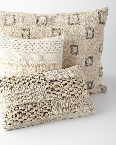 """Zahra Hand-Woven Pillow, 14"""" 24"""""""