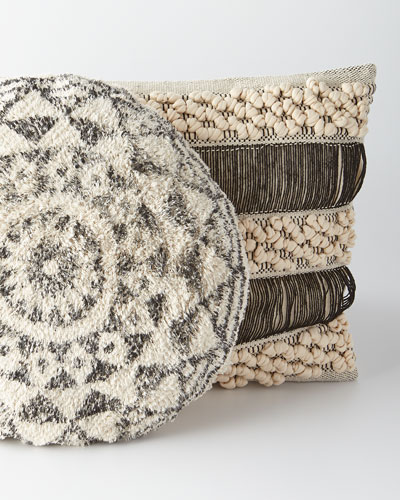 Habibi Round Pillow with Insert and Matching Items