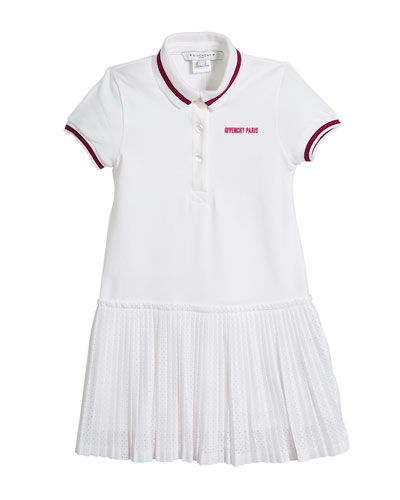 Pique Polo Dress w/ Pleated Mesh Skirt, Size 4-5 and Matching Items