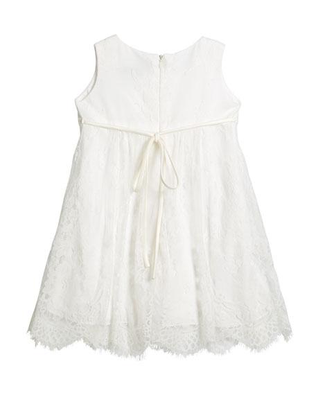 Lace Empire-Waist Sleeveless Dress, Size 2-6