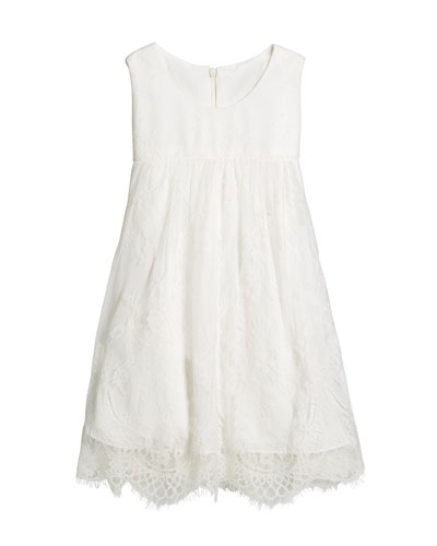 Lace Empire-Waist Sleeveless Dress, Size 12-18 Months  and Matching Items