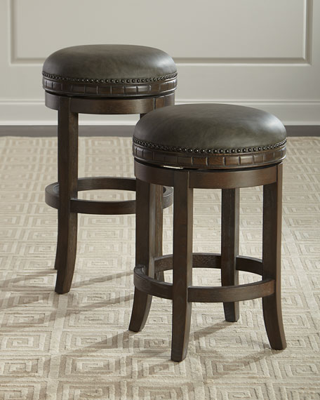 Parrish Leather Bar Stool
