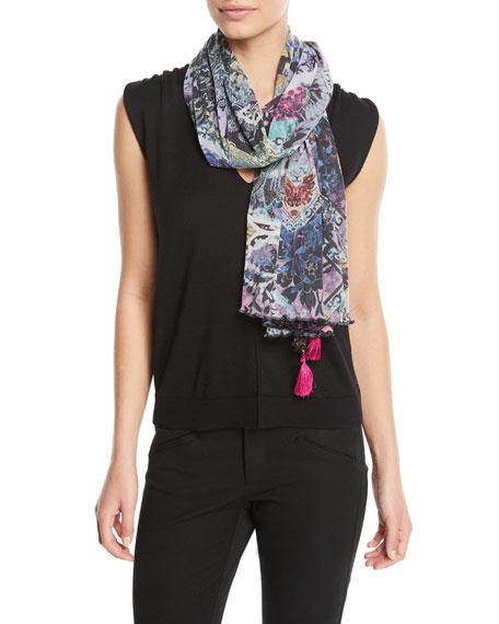 V-Neck Short-Sleeve Wool Top
