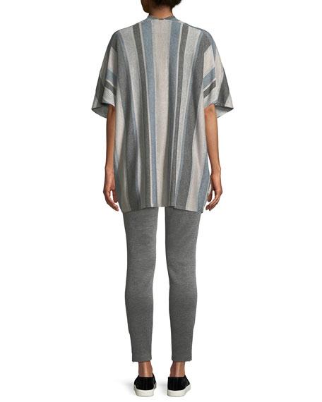 Short-Sleeve Shimmer Stripe Cardigan