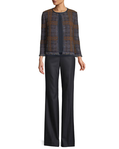 Plaid Boucle Jacquard Knit Jacket  and Matching Items