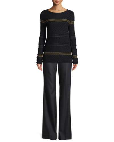 Velvet Wave Knit Sweater  and Matching Items