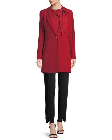 Gail Knit Skinny-Lapel Jacket