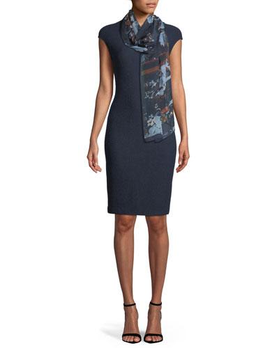 Ana Cap-Sleeve Boucle Knit Sheath Dress and Matching Items