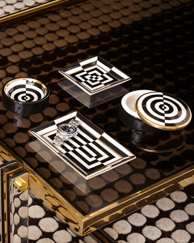Op Art Rectangle Tray  and Matching Items