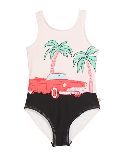road trip one-piece swimsuit, size 2-6x and Matching Items
