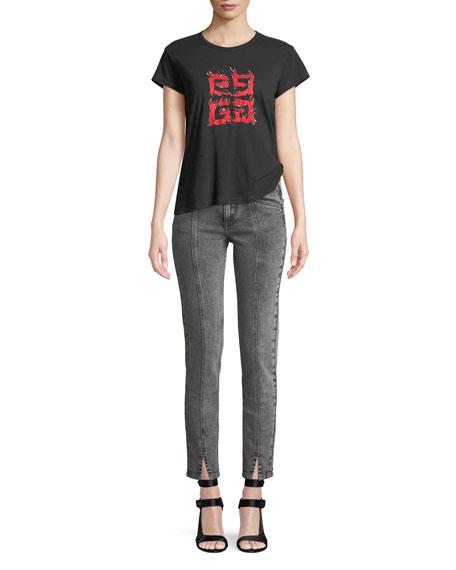 4-Logo Crewneck Short-Sleeve Jersey T-Shirt