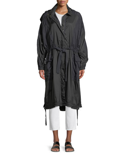 Hooded Zip-Front Raincoat and Matching Items