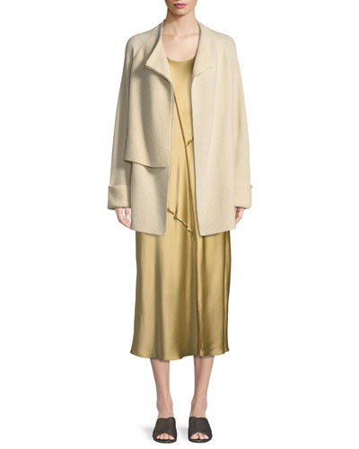 Wool-Cashmere Drape-Front Cardigan and Matching Items