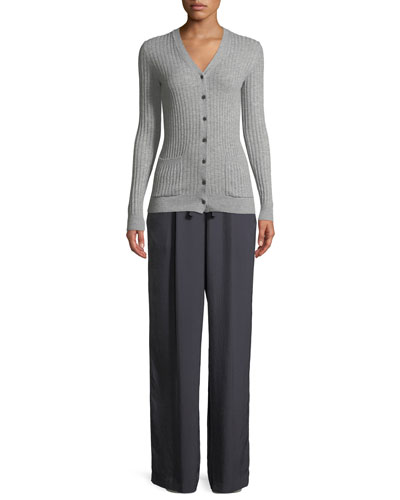 Rib Skinny Cashmere Cardigan Sweater and Matching Items