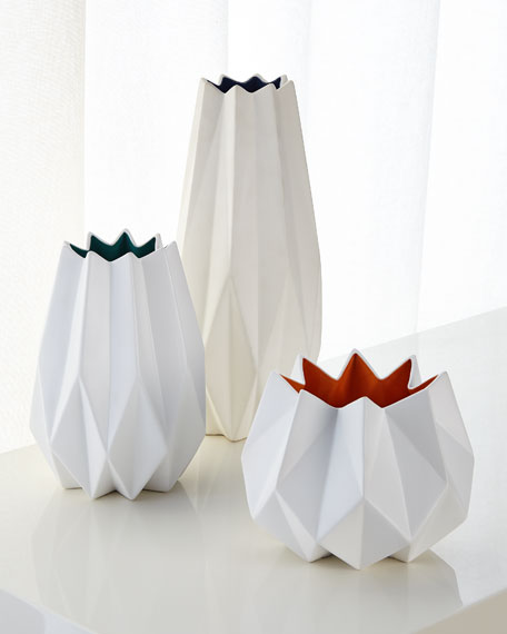 Large Two-Toned Matte Vase